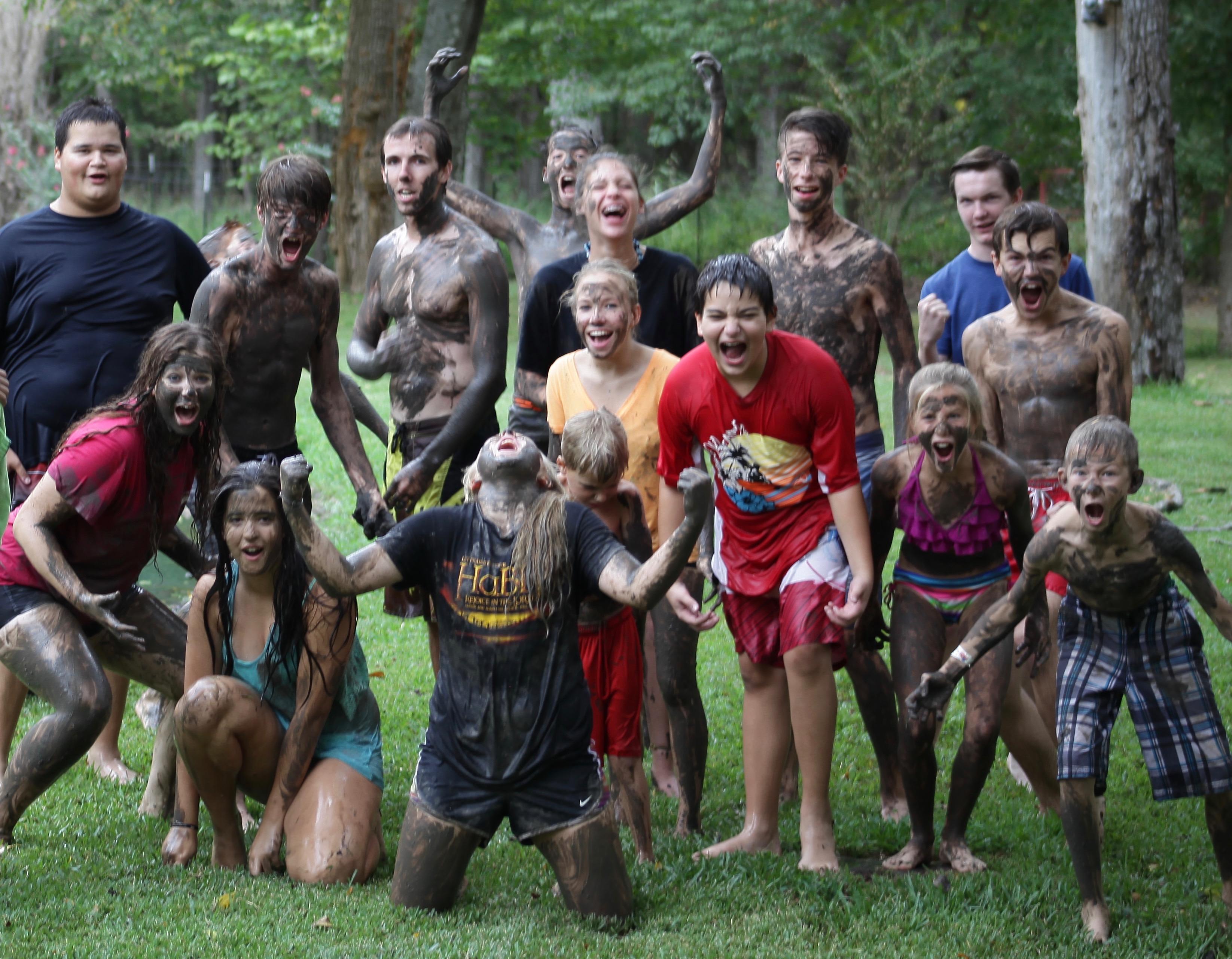 Youth Group Mud Photo